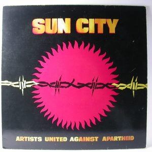 Discos vinilos baratos | Artists United Against Apartheid: Sun City, Peter Gabriel & Shankar, Gil Scott-Heron, Melle Mel, Duke Bootee, Miles Davis, Ron Carter, Stanley Jordan, Tony, Venta vinilos Chile