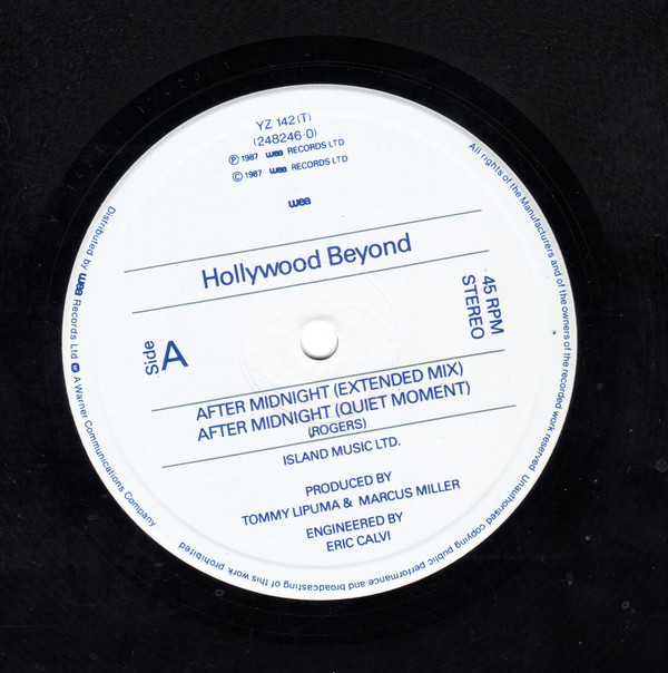Hollywood Beyond – After Midnight | venta discos de Synth-pop, venta discos de Disco, venta discos de Garage House