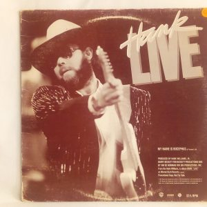 Hank Williams Jr.: Hank Live | Venta de vinilos de Folk y Country - CHILE